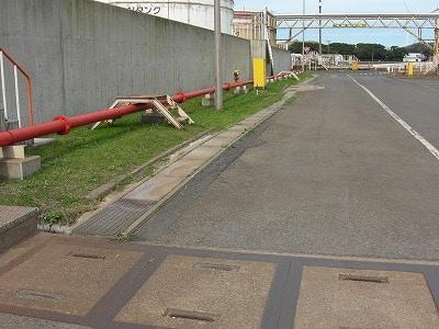 扇矢工事施工例 鹿島共同火力構内排水管点検(茨城県)